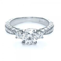 JOSEPH JEWELRY BELLEVUE WA Custom Three Stone Diamond Engagement Ring $3602