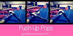 Gymnastics Conditioning, Gymnastics At Home Workouts, Skill tips, Drills and Progressions for Coaches and Gymnasts. Gymnastics At Home, Gymnastics Academy, All About Gymnastics, Gymnastics Coaching, Gymnastics Workout, Gymnastics Conditioning, Conditioning Workouts, Push Up Pops, Hockey Training
