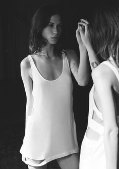 The Lake & Stars Camisole | Warm Ivory | & Other Stories | like a mirror