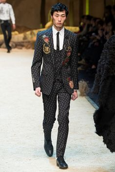 Sfilata Moda Uomo Dolce & Gabbana Milano - Autunno Inverno 2016-17 - Vogue