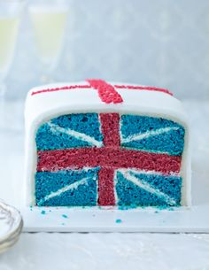 The Jubilee Cake from The Great British Bake Off Showstoppers is a gloriously patriotic sponge cake which, when cut into slices, reveals the Union flag. It's a fun, tasty cake perfect for a right Royal knees-up.