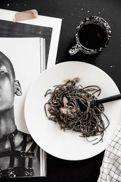 Black pasta. Styling by Per Olav Sølvberg