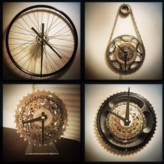 bike wheel clock bike gear wall clock hanging bike clock or bicycle desk
