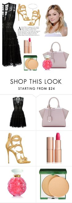 """""""Untitled #2"""" by lazika44 ❤ liked on Polyvore featuring Elie Saab, Fendi, Giuseppe Zanotti, Neutrogena, Charlotte Tilbury, Lalique, Clinique, dress and haveagreatday"""
