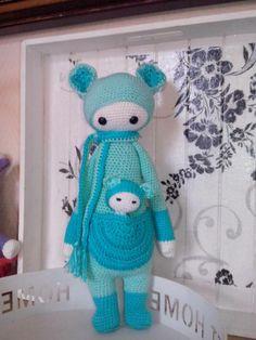KIRA the kangaroo made by Anita F. / crochet pattern by lalylala