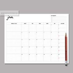 2016 Monthly Planner Monthly Planner Monthly calendar por VONSTUDIO