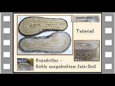 Espadrilles Outdoor Sohle selbst gemacht / Make your own Espadrilles Outdoor Sole - https://www.youtube.com/watch?v=J06PxrAOjvQ