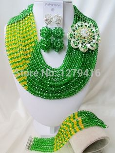 Find More Jewelry Sets Information about Good Quality  Green Yellow   Crystal Nigerian Wedding African Beads Jewelry Set A clearance sale    AAA009,High Quality Jewelry Sets from Andy Africa, the americas, Europe, the wedding jewelry store on Aliexpress.com