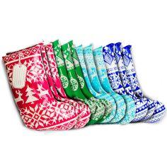 Suck UK Stocking Shaped Gift Bags 12pcs Set   Panik Design