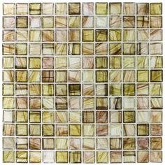 Shop Elida Ceramica Moss Glass Mosaic Square Indoor/Outdoor Wall Tile (Common: 12-in x 12-in; Actual: 11.75-in x 11.75-in) at Lowes.com