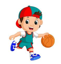 Of kid playing basketball Royalty Free Vector Image Basketball Drawings, Basketball Pictures, Drawing For Kids, Art For Kids, Free Vector Images, Vector Free, Certificate Background, Storybook Characters, Boys Playing