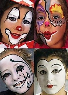 Clowns Carnival Makeup, Clown Makeup, Halloween Makeup, Clown Face Paint, Scary Clown Mask, Clown Party, Female Clown, Cute Clown, Circus Costume