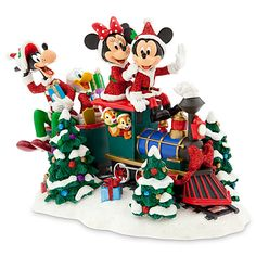 Disney (Disney) Santa Mickey Mouse and Friends on Train Figure Santa Mickey and Minnie Friends of train figure [parallel import goods]. Santa Mickey and Minnie Friends of train figures. Disney Christmas Village, Minnie Mouse Christmas, Disney Ornaments, Christmas Train, Mickey Mouse And Friends, Christmas Villages, A Christmas Story, Disney Mickey Mouse, Charms