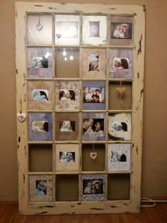 upcycle an old sliding door into a photoframe