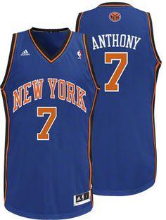 cdcc3978f New York Knicks Carmelo Anthony 7 Blue Authentic NBA Jersey Sale New York  Knicks, Nba