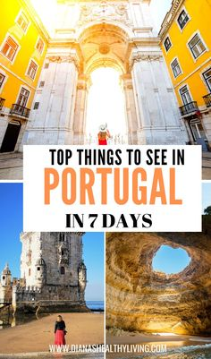 Are you planning a trip to Portugal? Here is the ultimate 7 day Portugal travel itinerary that will have you visiting Lisbon, Sintra, Belem and Algarve. All the things that you need to see during your one week in Portugal vacation. Road Trip Portugal, Portugal Vacation, Portugal Travel Guide, Visit Portugal, Europe Travel Guide, Spain And Portugal, Travel Deals, Travel Destinations, Europe Packing