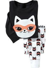 Masked-Cat PJ Sets for Baby