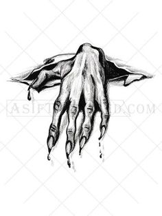 This highly detailed black tattoo has an amazingly effect and featues the hand of a demon breaking through your flesh. A demon tattoo represents death, deceit or eternal darkness. Creepy Tattoos, Skull Tattoos, Body Art Tattoos, Hand Tattoos, Sleeve Tattoos, Demon Tattoo, 1 Tattoo, Dark Tattoo, Chest Tattoo