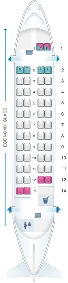 Seat Map Kingfisher Airlines Aerospatiale ATR 42 500
