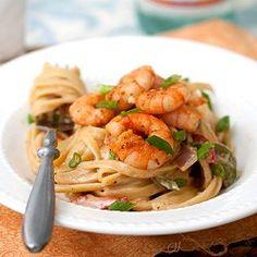 Cajun Shrimp Pasta - a perfect dinner for Fat Tuesday!