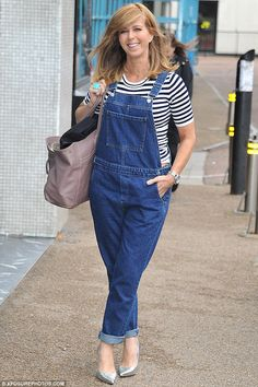 Home time! Presenter Kate Garraway, 48, looked fresh and ready for the day ahead as she le...