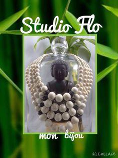 """Studio Flo-mon bijou "" new design ... A majestic necklace made of gorgeous white marble stones ...  Facebook.com/studioflomonbijou"