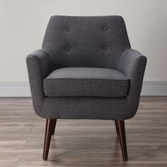 TOV Furniture Clyde Grey Linen Chair (Foam)