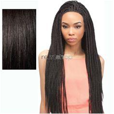Sun Jun 5, 2016 - #4: X-Pression Box Braid Small Small - Color 1B - Synthetic Braided Lace Front Wig