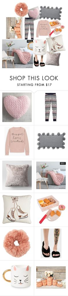 """Fuzzy Sunday"" by davi30 ❤ liked on Polyvore featuring Pier 1 Imports, Disney, Thro, Chloe + Isabel and Qupid"