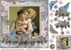 Hugs for Mummy on Craftsuprint designed by Karen Wyeth - An adorable vintage image with a young girl hugging her Mother. Would suit many different occasions - Mother's day, birthday, thank you to Mum etc. Decoupage items and a matching smaller gift tag topper are also included on the sheet. xk - Now available for download!