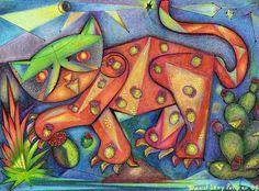 "Saatchi+Online+Artist+daniel+levy;+Drawing,+""TamayoCat""+#art"