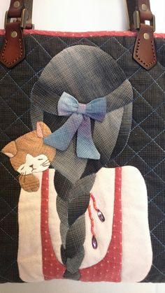 Crazy Patchwork, Patchwork Bags, Quilted Bag, Wool Applique, Applique Patterns, Applique Quilts, Fabric Bags, Fabric Scraps, Applique Wall Hanging