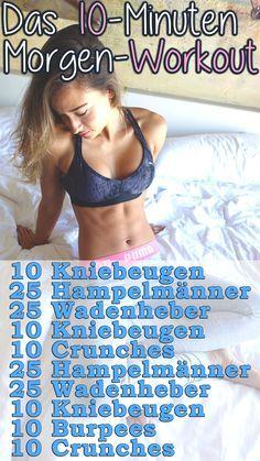 Einfach Muskeln aufbauen und Fett verbrennen - 10 Minuten Morgen Workout - BodyKiss