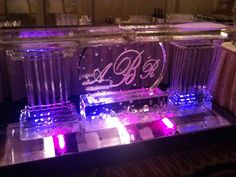 ABR Monogram Ice Bar Ice Bars, Monogram, Neon Signs, Party, Monogram Tote, Receptions, Direct Sales Party, Monograms