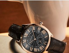 Drive de Cartier: the taut curves and refined lines construct an identity that is stylish with a subtle sophistication—essential for every man of accomplishment. Cartier Watches, Seiko, Precious Metals, Custom Jewelry, Omega Watch, Inventions, Identity, Curves, Fine Jewelry