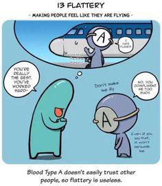 Flattery Blood Type Personality, Blood Types, Blood Groups, Feelings, Comics, Nice, Cartoons, Nice France, Comic