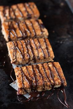 Gluten free chewy chocolate peanut butter granola bars.  Also oat free, dairy free, refined sugar free, and grain free.