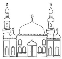 Ramadan Colouring Pages – In The Playroom mosque colouring page
