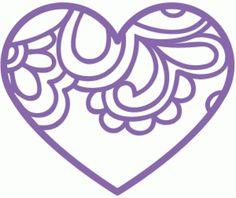 Silhouette Design Store - View Design #50810: paisley heart
