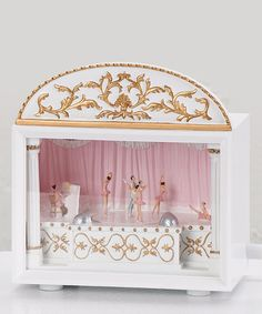 Roman, Inc. Ballet Theater Music Box by Once Upon a Time: Fanciful Furnishings Music Box Ballerina, Ballerina Room, Ballet Theater, Musical Theatre, Princess Aesthetic, Pretty Box, Decoration, Snow Globes, Shabby Chic