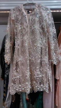 You swore you'd recycle your winter wedding wear through summer but they probably seem too blistering hot now especially when you see all the cool pastel nets and soft shimmering embellishmen… Pakistani Formal Dresses, Pakistani Party Wear, Pakistani Wedding Outfits, Pakistani Couture, Indian Dresses, Indian Outfits, Saree Dress, Mode Hijab, Classy Outfits