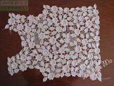 Crochê Tricô - Gráficos: Casaquinho em Crochê Irlandês