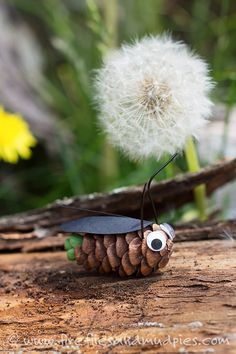 Pine Cone Fireflies: A Summer Nature Craft for Kids | Fireflies and Mud Pies