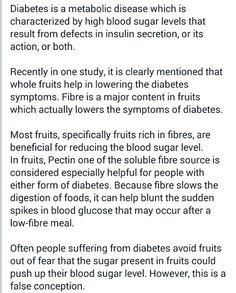 How fruits help diabetics