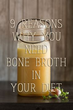 9 Reasons you Need Bone Broth in your Diet! Click through to access your FREE bone broth recipe tutorial video!