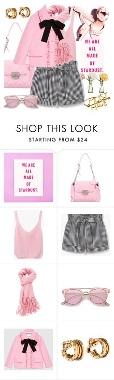 """""""Pink martini"""" by pensivepeacock ❤ liked on Polyvore featuring Lanvin, Chanel, PEONY, MANGO, Gucci and Bulgari"""