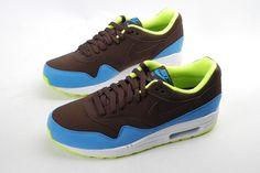 Nike Air Max 1 Maron/Bleu/Jaune