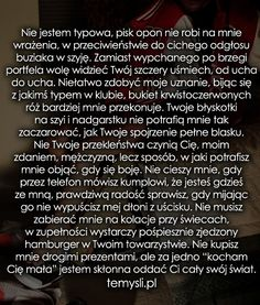 Nie jestem typowa, pisk opon nie robi... Love Life, My Love, Romantic Quotes, Sad Quotes, Cute Couples, Inspire Me, Crying, Texts, Thoughts