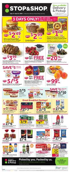 stop shop weekly flyer july 17 july 23 2020 Rancho Markets Weekly Ad July 28 To August 3 2020 save mart weekly ad grocery ads save mart prepared foods seabra foods weekly ad valid from 06062020 ... Stop And Shop Circular, Save Mart, Grocery Ads, Flyer Free, Weekly Ads, Flyer Design Templates, July 28, Sweet, Foods