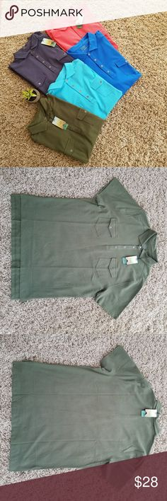 New!♦2 for $38♦Short  Sleeve Shirt for Men ♦2 for $38♦New Ocean + Coast Short Sleeve Shirt for Men   2 front pockets with flap button closure   Tailored collar  4  button front closure  Split hem  Measurement of Medium shown Other colors available to bundle for a discount, as seen in 1st photo!  Other great EUC and NWT listings  to bundle with - glad to tag you in same size items! Any gently loved items are from my family, so chances are that if you find one item you like, there are more…